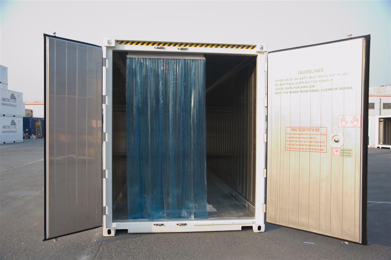 Rideau chambre froide rideau plastique industriel pvc for Chambre container