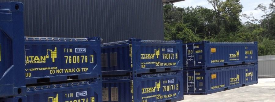 Half Height DNV open tops in Labuan depot